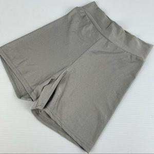 PRETTYLITTLETHING SizeXS Silver/Grey Workout Short